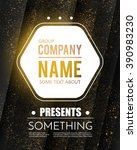 poster template with shining... | Shutterstock .eps vector #390983230