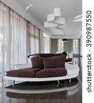 modern luxury interior in... | Shutterstock . vector #390987550