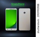 smartphone with bokeh design...   Shutterstock .eps vector #390990988