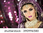 portrait of a beautiful female...   Shutterstock . vector #390996580