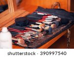 brushes for a make up  in their ... | Shutterstock . vector #390997540