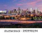 Panorama Denver Skyline Long Exposure - Fine Art prints