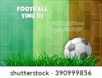 design for euro football cup... | Shutterstock .eps vector #390999856