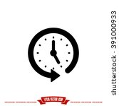 clock arrow icon vector... | Shutterstock .eps vector #391000933