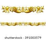 golden ornamental segment  ... | Shutterstock . vector #391003579