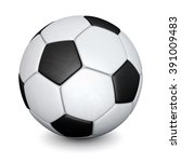 soccer ball with shadows... | Shutterstock . vector #391009483