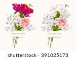 vintage set of two summer... | Shutterstock .eps vector #391025173
