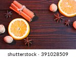 sweet spices and citrus | Shutterstock . vector #391028509