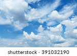 fantastic soft white clouds... | Shutterstock . vector #391032190