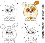 funny and cute puppy. coloring... | Shutterstock . vector #391034638