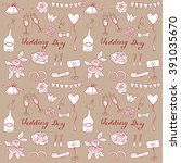 wedding hand drawn isolated... | Shutterstock .eps vector #391035670