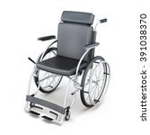 Wheelchair On A White...