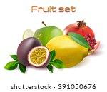realistic 3d fruit vector set... | Shutterstock .eps vector #391050676