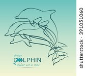 dolphin icon design element on... | Shutterstock .eps vector #391051060