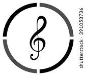 treble clef    black vector icon   Shutterstock .eps vector #391053736