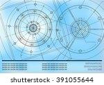 vector mechanical engineering... | Shutterstock .eps vector #391055644