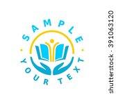 school logo design template. | Shutterstock .eps vector #391063120