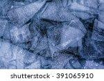ice patterns of frozen lake...   Shutterstock . vector #391065910