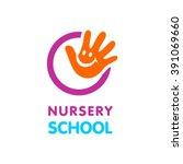 nursery school logo | Shutterstock .eps vector #391069660