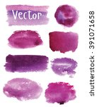 set of watercolor stains. spots ... | Shutterstock .eps vector #391071658