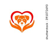 Stock vector logo for pet shop or animal clinic 391072693