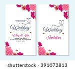 wedding invitation  thank you... | Shutterstock .eps vector #391072813