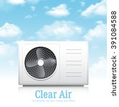 air conditioner for home and... | Shutterstock .eps vector #391084588