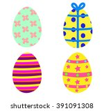 easter egg set | Shutterstock .eps vector #391091308