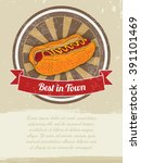 food banner with hot dog... | Shutterstock .eps vector #391101469