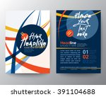 abstract colorful curved line... | Shutterstock .eps vector #391104688