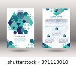 set of vector brochure front... | Shutterstock .eps vector #391113010