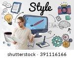 style design elegant posh... | Shutterstock . vector #391116166