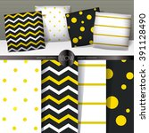 set of realistic 3d throw... | Shutterstock .eps vector #391128490