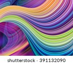 Abstract Neon Wavy Lines...