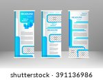 roll up banner stand design.... | Shutterstock .eps vector #391136986