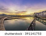 sewage treatment plant with... | Shutterstock . vector #391141753
