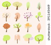 tree flat icons | Shutterstock .eps vector #391145449