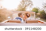 stylish loving wedding couple... | Shutterstock . vector #391148200
