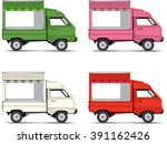 food bus with awning isolated...   Shutterstock .eps vector #391162426