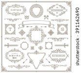 set of vintage design elements  ... | Shutterstock .eps vector #391162690