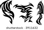 tattoo elements vector... | Shutterstock .eps vector #3911632