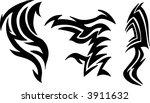 tattoo elements vector... | Shutterstock .eps vector #3911632