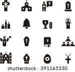 catholic religion icons | Shutterstock .eps vector #391165330