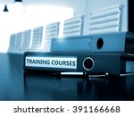 training courses   concept.... | Shutterstock . vector #391166668