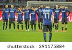 milan  italy march 03  2016  fc ... | Shutterstock . vector #391175884