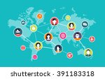 social media background  ... | Shutterstock .eps vector #391183318