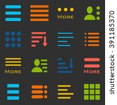 hamburger menu icons set. bar... | Shutterstock .eps vector #391185370