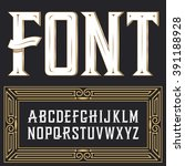 vector label font with art deco ... | Shutterstock .eps vector #391188928
