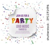 party poster template with... | Shutterstock .eps vector #391191496