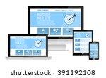 responsive web site design flat ... | Shutterstock .eps vector #391192108